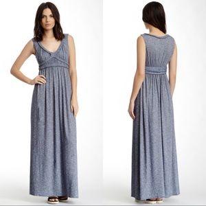 NWT Max Studio Blue Gray Braided Maxi Dress